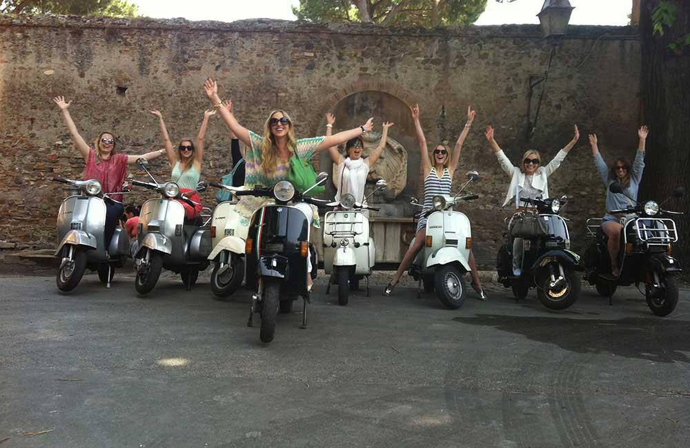 Tour in Vespa